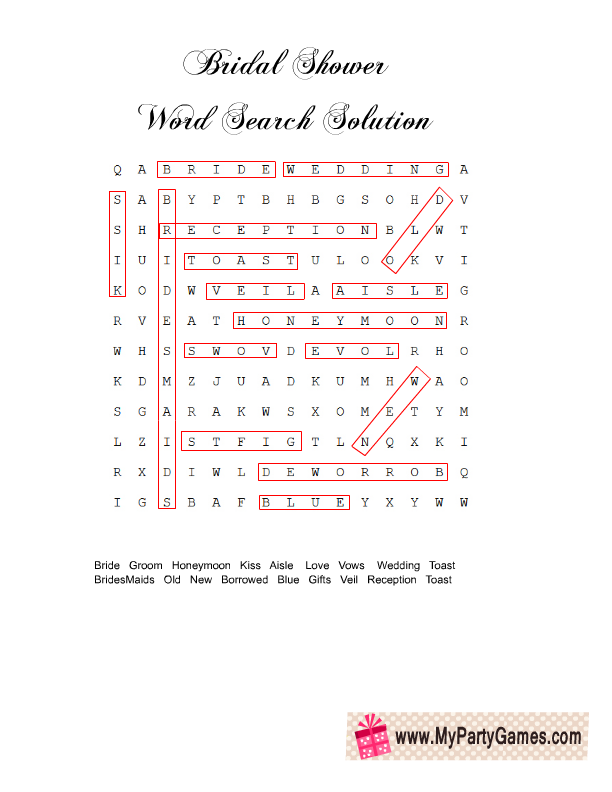 You Will Need Only One Copy Of This Word Search Solution
