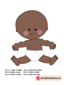 Free Printable African-American Baby Dress Up Game