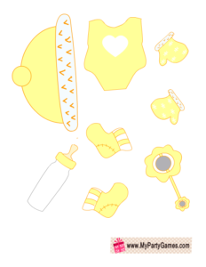 Yellow clothes for Baby Dress up Game
