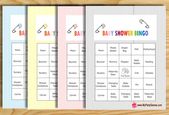 Free Printable Baby Shower Bingo