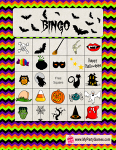 Free Printable Halloween Picture Bingo Game Card 8