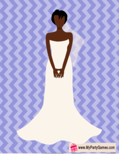Free Printable Pin Bouquet on African-American Bride Game