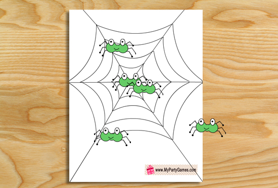 Free Printable Pin the Spider on the web Game