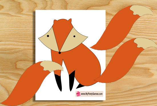 Free Printable Pin the Tail on Fox Game