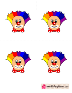 free printable clowns for who got the cake game