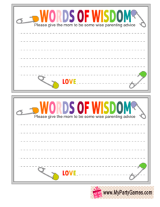 Free Printable Words of Wisdom Cards
