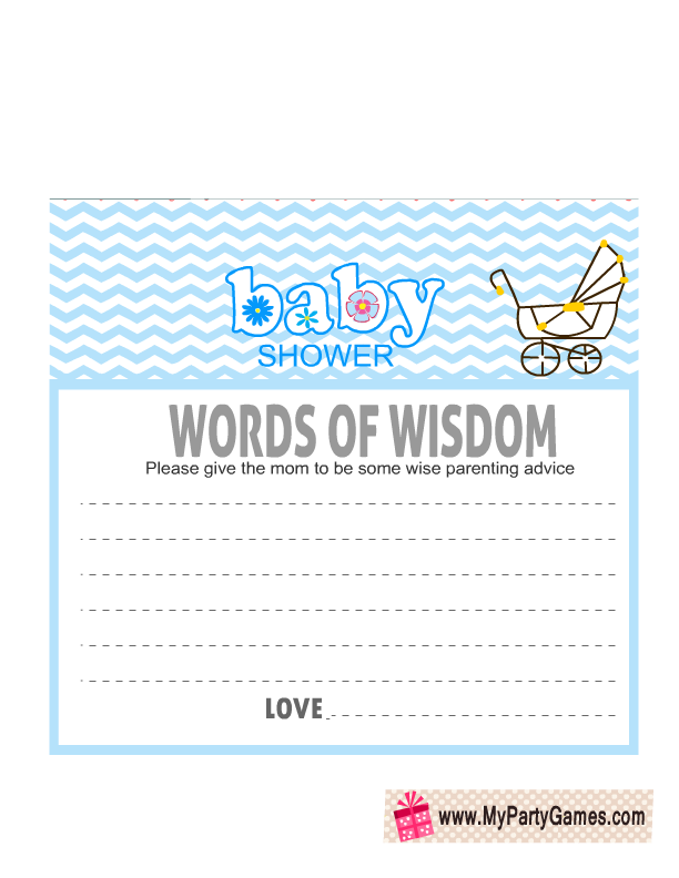 Free Printable Words of Wisdom Cards with Chevron Pattern