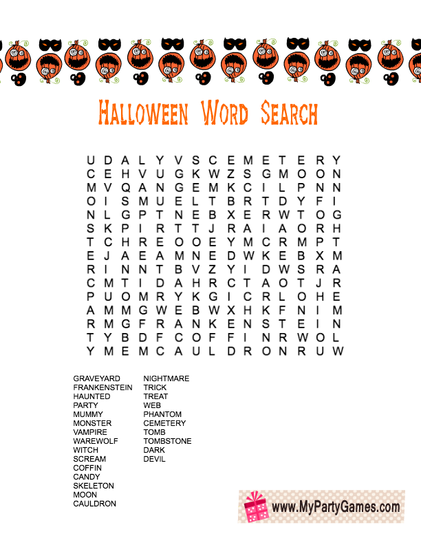 This is an image of Modest Printable Word Search Game