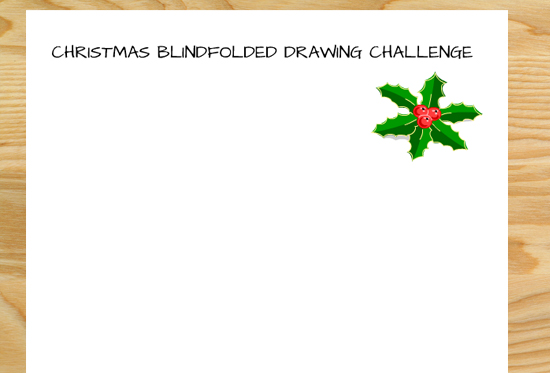 Christmas Blindfolded Drawing Challenge- Free Printable Worksheets