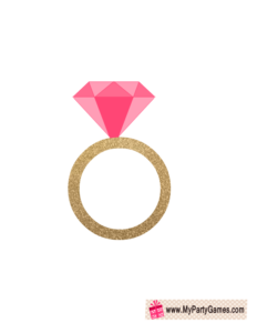 Engagement Ring Photo Booth Prop