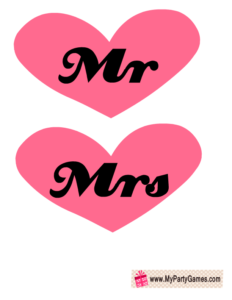 Mr and Mrs Photo Booth Props