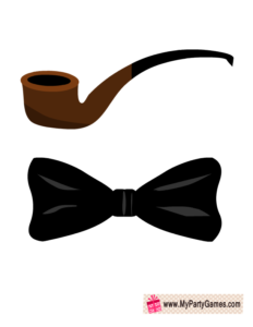 Bow Tie and Pipe Photo Booth Props