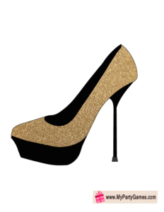 Fashionista Shoe 1, Bridal Shower Photo Booth Prop
