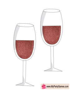 Wine Glasses Props for Bridal Photo Booth