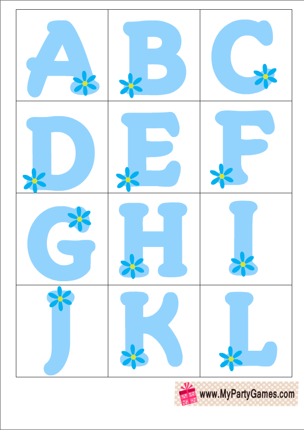 free printable baby shower alphabet introduction game ice