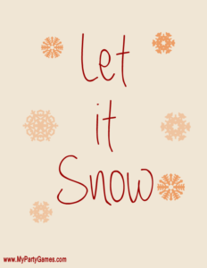 Let it Snow - Free Printable Art