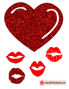Heart and Lips, Love Props for Photo Booth