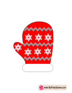 Winter Mitts Photo Booth Props Red