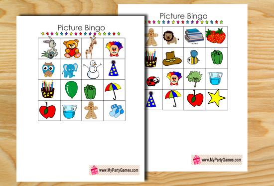 image relating to Printable Bingo for Kids named Cost-free Printable Visualize Bingo Match for Children
