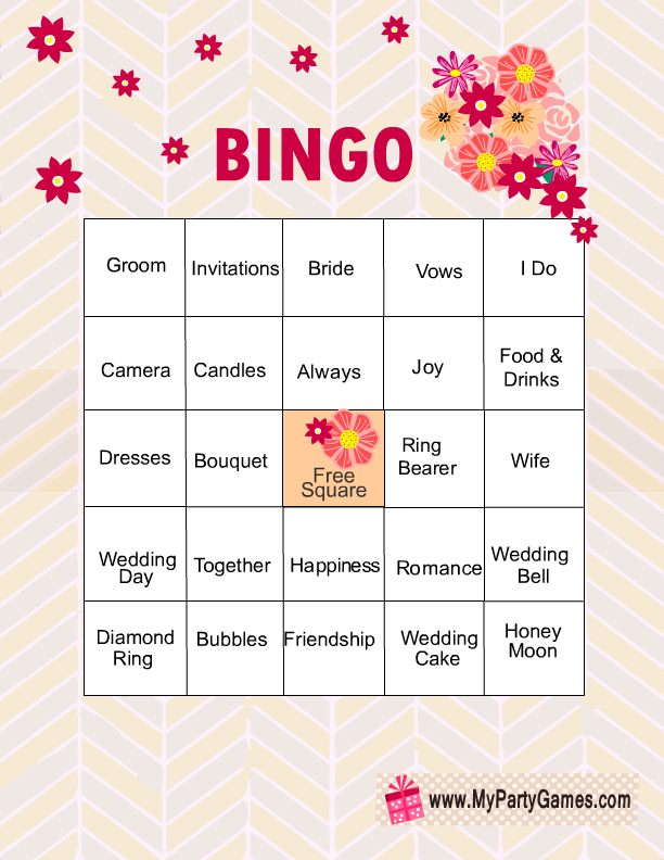 picture about Printable Bridal Shower Cards referred to as No cost Printable Bridal Shower Bingo Video game Playing cards