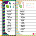 Free Printable Birthday Word Scramble Game