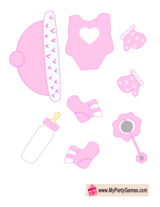 Pink clothes for Baby Dress up Game