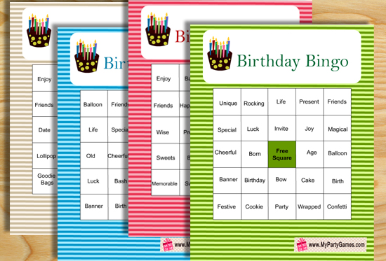 photo relating to Free Printable Left Right Birthday Game called Totally free Printable Birthday Social gathering Video games
