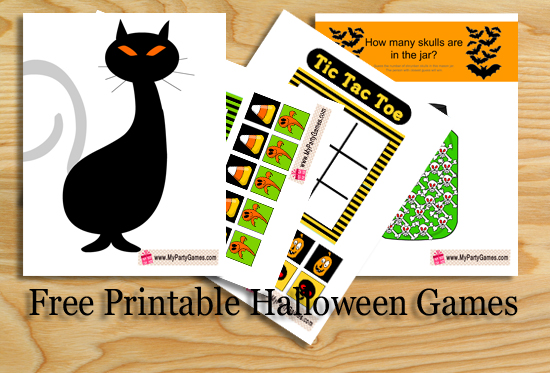 Free Printable Halloween Games