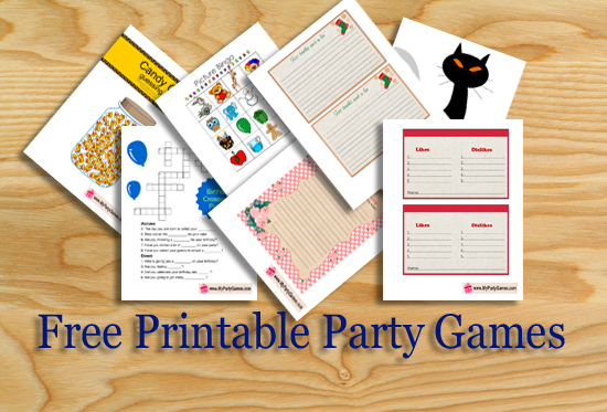 photo relating to Printable Paper Games for Adults titled Free of charge Printable Celebration Game titles