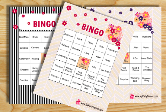 picture regarding Bridal Shower Bingo Free Printable titled No cost Printable Bridal Shower Bingo Video game Playing cards