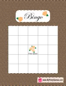 Free Printable Bridal Shower Gift Bingo Card in Black and Yellow
