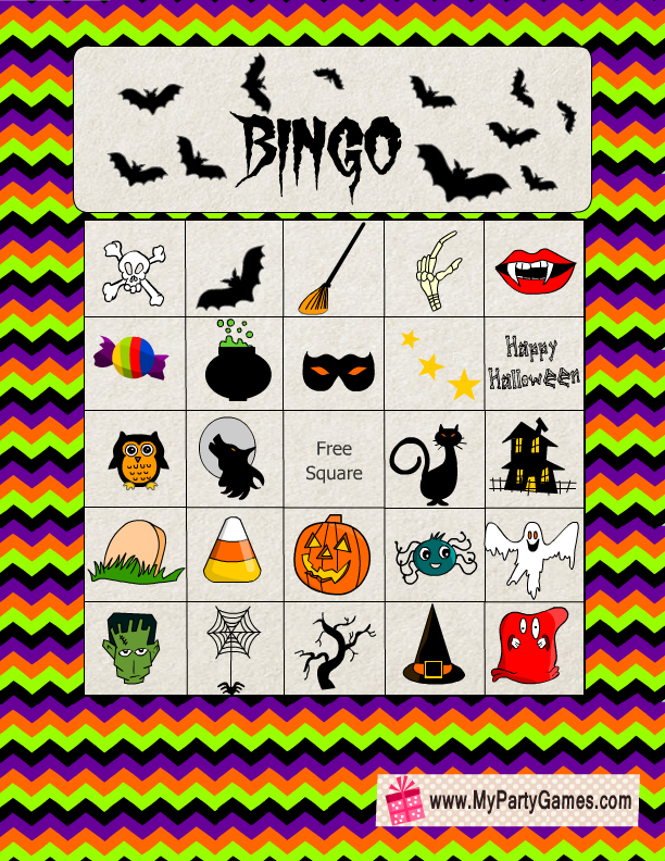 photograph regarding Printable Halloween Bingo Card called No cost Printable Halloween Consider Bingo Activity