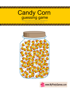 Free Printable Candy Corns Guessing Game for Halloween