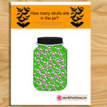 Free Printable How many Skulls are in the Jar Game