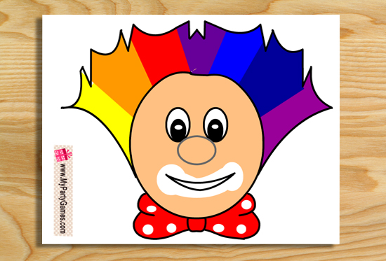 Pin the Nose on the Clown Game { Free Printable }