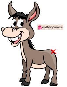 Free Printable Pin the Tail on Donkey Game