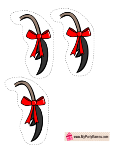 Free Printable Tails for Pin the Tail on Donkey Game