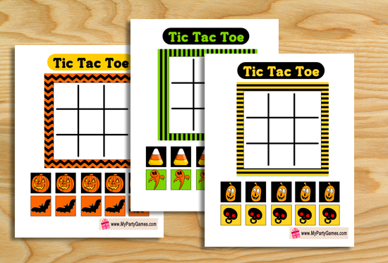 Free Printable Halloween themed Tic Tac Toe Game
