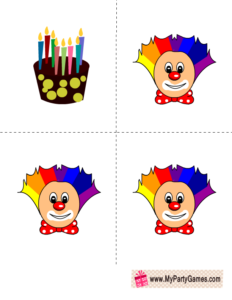 Free Printable Who got the Cake? Game for Birthday