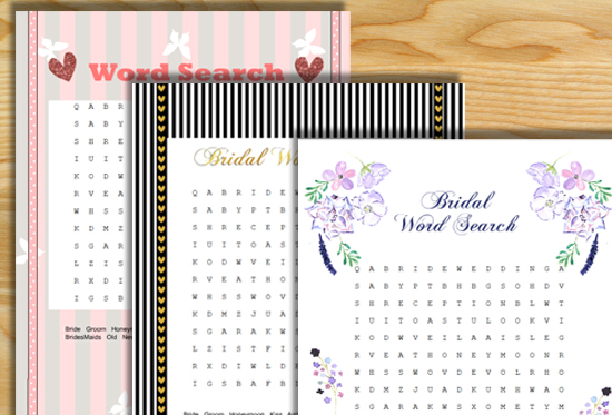 Free Printable Wedding Word Search Game
