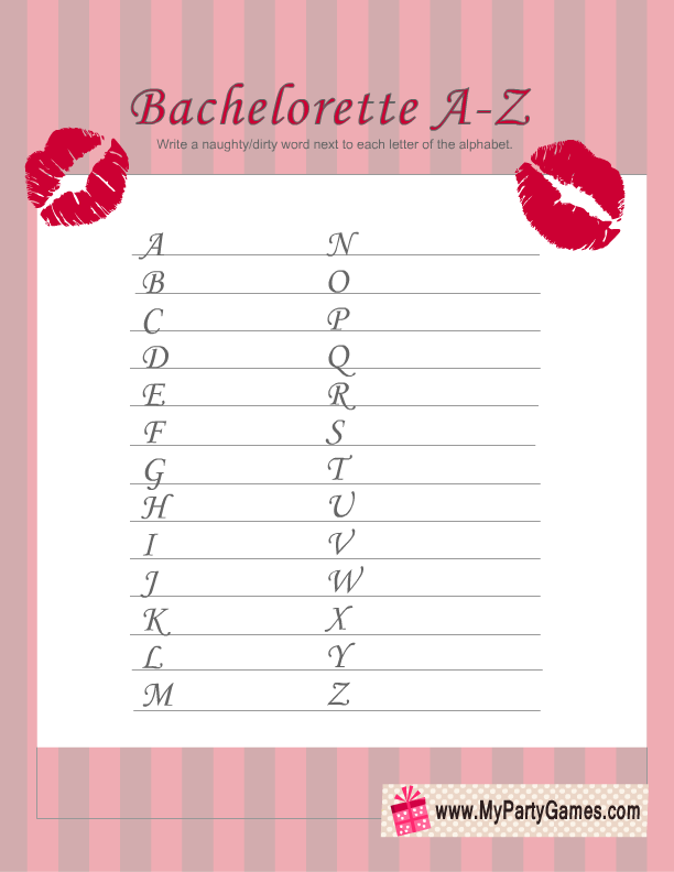 Tactueux image for free printable bachelorette party games