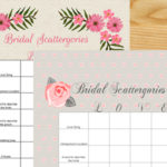 Bridal Shower Scattergories Free Printable Game