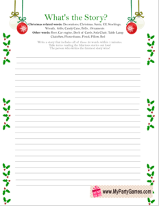 What's the Story? - Free Printable Christmas Game