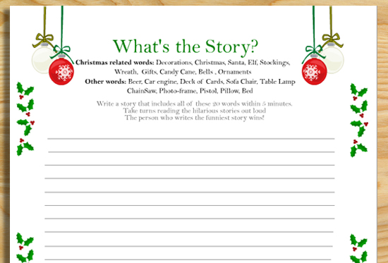 image relating to Free Printable Christmas Games for Adults identified as 20+ No cost Printable Xmas Game titles