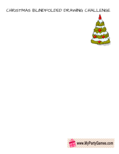 Christmas Blindfolded Drawing Challenge- Draw a Christmas Tree