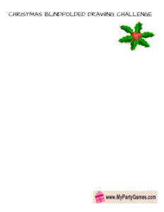 Christmas Blindfolded Drawing Challenge- Draw a Mistletoe