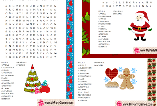 photograph regarding Free Printable Christmas Games for Adults named 20+ No cost Printable Xmas Online games