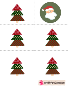 Who got the Santa? Free Printable Christmas Game