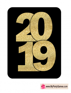 2019 New Year Photo Booth Props