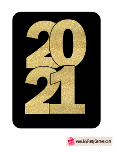 2021 New year Prop Black